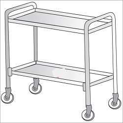 collection-trolley-with-trays